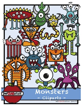 Monsters - Clip arts