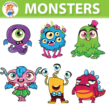 Halloween Monsters Clipart