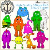 Monsters Clipart {Anchor Art Man}