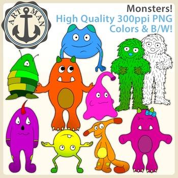 Monsters Clipart {Anchor Art Man}
