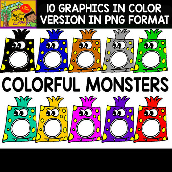 Monsters - Clipart Sets - 11 Items