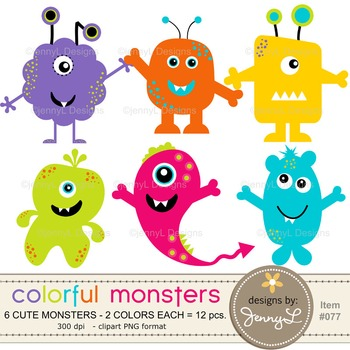 Monsters Clipart