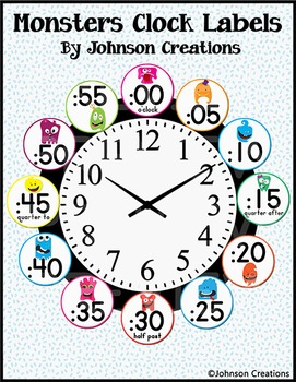 Monsters Clock Labels