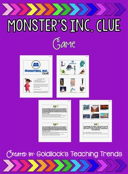 Monsters Clue Game RI.3.8