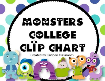 Monsters College Clip Chart 2