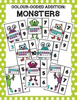 Monsters Colour-Coded Addition