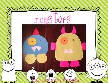 Monsters Craftivity Pack