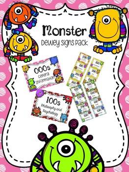 Monster Dewey Signs Pack