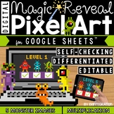 Monsters Digital Pixel Art Magic Reveal MULTIPLICATION