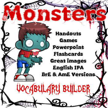 Monsters ESL / EFL Vocabulary Builder - English+Chinese