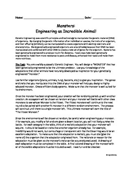 Monsters: Engineering an Incredible Animal!