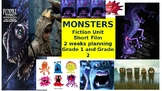 Monsters Fiction Unit Grade 1 and Grade 2