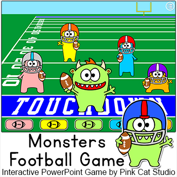 Monsters Football - Review Game for any Subject SMARTboard Game