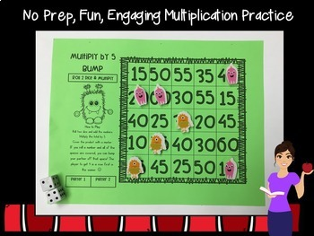 Multiplication Game Print & Play- Basic Facts 2-12