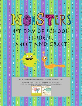 Monsters Free 1st Day of School Meet and Greet