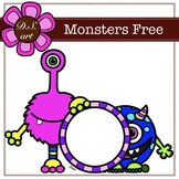 Monsters Free Digital Clipart (color and black&white)