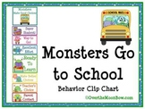 Monsters Go to School Themed Behavior Clip Chart