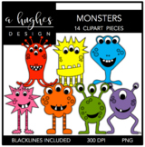 Monsters Clipart {A Hughes Design}