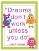 "Monsters Growth Mindset Posters - 8.5""x11"", 18""x24"" - Ready for Printing"