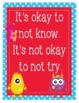 """Monsters Growth Mindset Posters - 8.5""""x11"""", 18""""x24"""" - Ready for Printing"""