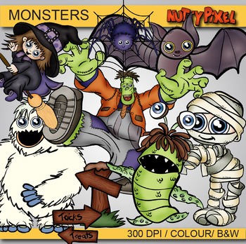 Monsters - Halloween Clipart