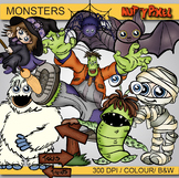 Monsters - Halloween Clipart