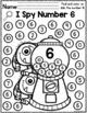 Monsters I Spy Numbers 0-10 FREEBIE