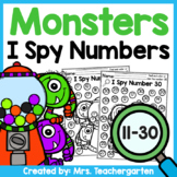 Monsters I Spy Numbers 11-30