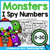 Monsters I Spy Numbers 11-30