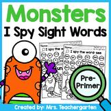 Monsters I Spy Sight Words - Pre-Primer