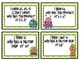 Monsters I have...Who Has?!? Cards for Multiplication - Fa