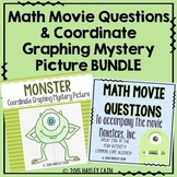 Math Movie Questions and Coordinate Graphing Picture BUNDLE!