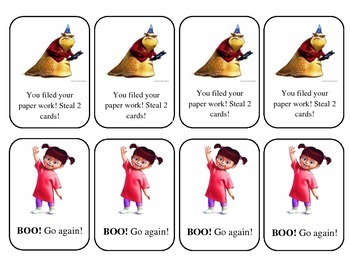Monsters Inc Digraph Reading Game
