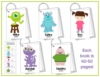"""Monsters"" Fluency Phrase Books - Includes all 220 Dolch Sight Words"