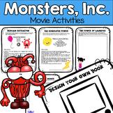 Monsters, Inc. Movie Activities - Science, Art, Writing, Design