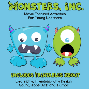 Monsters, Inc. Movie Activities - Science, Art, Writing, Design