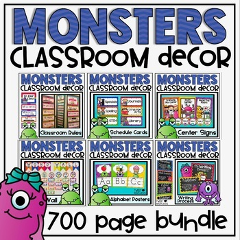 Monsters Ultimate Classroom Decor Set