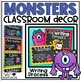 Monsters Classroom Decor Bundle with Schedule Cards, Labels, Jobs, Rules & more!