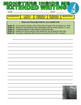 Monsters Inside Me : A Deadly Swim (Biology Video Worksheet)