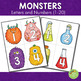 Monsters Lab Letter and Number Cards