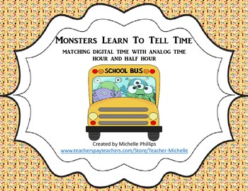 Monsters Learn To Tell Time! - Center Game - Time to the H