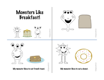 Monsters Like Breakfast - A simple reader with repetitive text