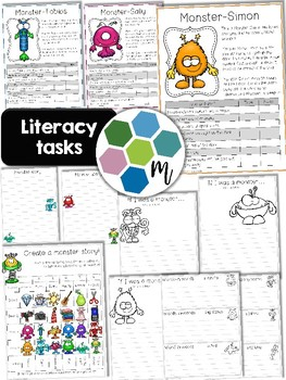 Monsters Literacy and Math Unit