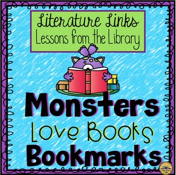Monsters Love Books Bookmark FREEBIE