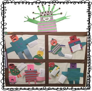 Little Shop of Monsters Literature Unit with Editable Glyph and Writing