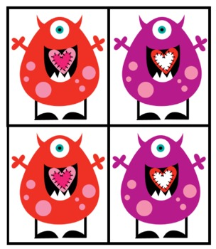 Monsters Love Math-Valentine's Day Math Centers!