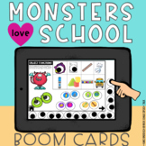 Monsters Love School BOOM Card Speech Therapy Book Companion