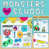 Monsters Love School Back to School Speech Therapy Book Companion