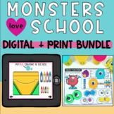 Monsters Love School DIGITAL and PRINT BUNDLE- Book Compan
