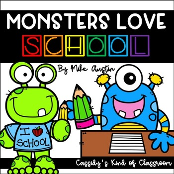 Monsters Love School First Week Back to School Activities and Writing Prompts